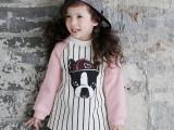 2015春季韩版儿童男女童装卡通狗长袖T恤圆领上衣童衫T外贸批发