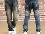 童装男单裤子牛仔裤中大童装男童牛仔裤长裤春款百搭弹力皮筋腰带