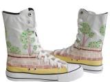 太原手绘鞋定做 太原画鞋太原手绘鞋培训 太原教你怎么画手绘鞋