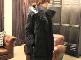 2014新款韩版大码女装连帽羽绒服女中长款军工装加厚外套正品 潮