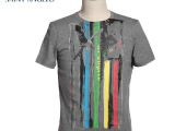 报喜鸟品牌T恤夏新款商务男装 男式韩版个性修身圆领男t恤短袖