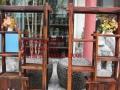 菏泽市老船木家具茶桌办公桌餐桌椅子实木沙发茶几茶台鱼缸博古架