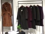 品牌女装折扣店货源慧之芳羊绒大衣双面呢大衣低价折扣批发