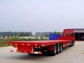 江门外海蓬江矮板车低平板半挂车拖车17.5米板车运
