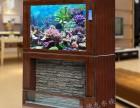 流水瀑布生态鱼缸,水幕系列水族箱,保定鑫德龙水族