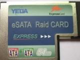 供应笔记本扩展卡2口ESATA接口54M