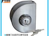 奥立德 玻璃门锁单门锁双开锁不开孔玻璃锁圆形双面移门中央锁501