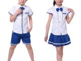 2014新款韩版夏款童装 童套装短袖二件套 校服园服批发