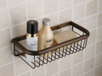 厂家批发 欧式仿古复古全铜 置物架 浴室网篮 长方形篮子 特惠