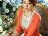 2014秋季新款女装 韩版V领针织开衫外套 针织衫 批发