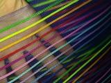 尼龙条纹网布多色尼龙沙网七彩条网间条色织