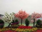 厂家定做樱花玻璃钢大型树 仿真树桃花树 包装柱榕树