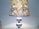 绘制陶瓷中式仿古触摸台灯欧式台灯,led