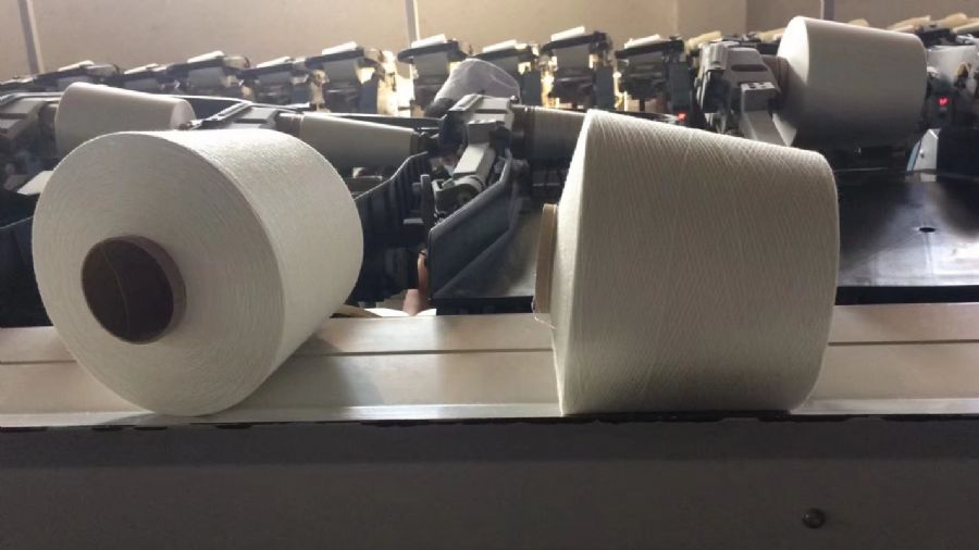 河北厂家直销16支涤纶纱仿大化