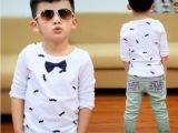 贝迪乐 2014春秋装新款 童装潮品男童T恤 个性儿童长袖T恤打