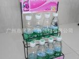 广州展彩订做各种五金挂架,金属饮料架,食品饮料架促销展示架