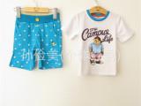 2014网络爆款小熊维尼短裤套装 专柜同款儿童维尼小熊夏套装