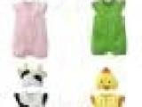 童装直批 可爱动物造型男女宝宝哈衣婴幼儿短袖爬服四色批32*5