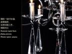 现代水晶餐吊灯 长方形led客厅灯简欧创