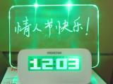 创意 好事达留言板闹钟 荧光板时钟 LED电子钟 1140C 电