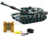 泽淦遥控对战坦克329-5美国M1A2 坦克模型高仿真坦克遥控充
