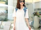 外贸原单女装t恤 夏装新款韩版宽松圆领印花短袖T恤一件代发88124