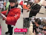 2014韩版冬装外套 男女童小童宝宝两件套面包服卫衣加厚棉衣代理