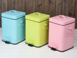 厂家批发ljt创意垃圾桶 家用外贸卫生间酒店脚踏垃圾桶方形环保