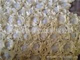 厂家供应激光割花盘带绣花布 盘带珠片绣花面料 特种金片绣