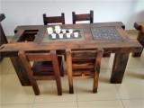 老船木茶桌椅組合中式仿古家具陽臺功夫茶臺茶