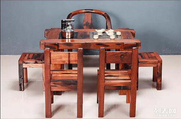 中山老船木家具 船木茶桌茶台