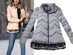 冬季新款女式立领棉袄 欧洲站保暖棉服 欧美大牌女装羽绒棉衣9415