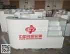 中国体育彩票柜台福利彩票收银台带玻璃展示柜销售柜手机收银柜台