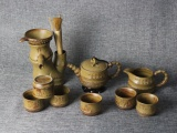 陶瓷茶具 礼品茶具套装 青花玲珑瓷茶具