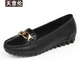 天意伦妈妈鞋单鞋真皮防滑软底中老年中年老人皮鞋工厂批发特大码