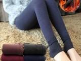 初冬新品韩版加厚加绒外穿打底裤袜七彩棉裤春秋冬季女踩脚一体裤