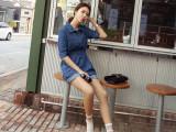 2015时尚秋装新款女韩模实拍女装帅气牛仔裤牛仔连体裤一件代发