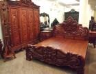 扬州专业回收红木家具大红酸枝沙发雕花衣柜老红木家具回收