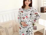 夏季薄款月子服产后哺乳睡衣长袖孕妇产妇坐月子喂奶衣服 7555