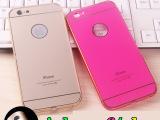苹果6金属边框带背板手机壳 iphone6plus亚克力背卡金属