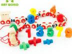 六一礼品木制益智玩磁性数字火车玩具 儿童早教玩具桶装收纳带133
