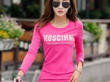 长袖t恤女秋季韩版新款上衣女装学生宽松打底衫卫衣外穿体潮