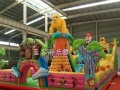 大型充气蹦床新款 儿童充气乐园蹦床供应商
