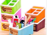 厂家直销塑料遥控器收纳盒 桌面收纳盒 创意收纳盒 可定制LOGO