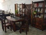 中式实木茶桌椅组合老船木茶仿古客厅茶室功夫泡茶台特价批发