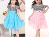 2014新款夏装儿童装女童连衣裙韩版儿童中小童条纹公主裙子