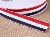 1cm-2.5cm红白蓝三色帽带间色涤纶