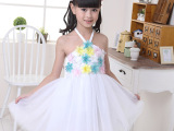 芭娜公主圣诞节儿童 舞蹈演出服装 女童连衣裙公主裙花童蓬蓬纱裙