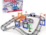 电动新款百变轨道车 儿童创意汽车玩具 亲