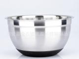 不锈钢沙拉碗 打蛋盆 烘培用品 硅胶底沙
